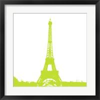Framed Lime Eiffel Tower