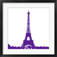 Framed Purple Eiffel Tower
