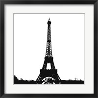 Framed Black Eiffel Tower