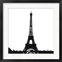 Framed Black Eiffel Tower