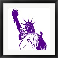 Framed Liberty in Purple