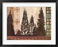 Framed Pine Trees Lodge II