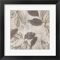 Graphic Leaves IV Framed Print