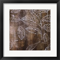 Framed Graphic Leaves I