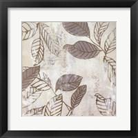 Framed Graphic Leaves IV