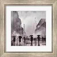 Framed New York Red Umbrella