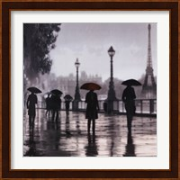 Framed Paris Red Umbrella