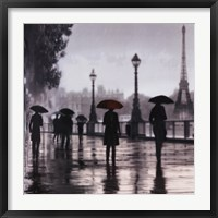 Framed Paris Red Umbrella