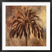 Framed Golden Palm