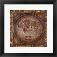 Framed Europe/Africa Map