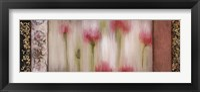 Framed Rain Flower I