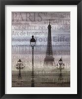 Framed Paris I