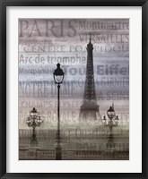 Framed Paris I