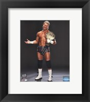 Framed Dolph Ziggler Posing with the World Heavyweight Championship Belt 2013