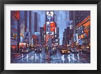 Framed Times Square Blue