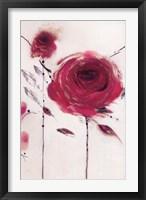 Framed Oriental Rose II