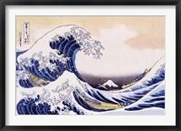 Framed Great Wave Of Kanagawa