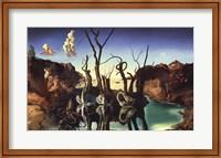 Framed Swans Reflecting Elephants, 1937