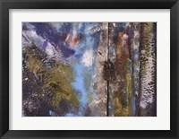 Framed Aegean Brushstrokes VI