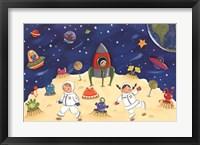 Space Fun Framed Print