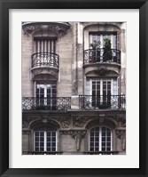 Framed Balcon Parisien I