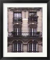 Framed Balcon Parisien II