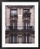 Balcon Parisien II Framed Print