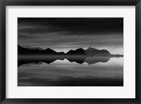 Framed Mirrored Silver Sea