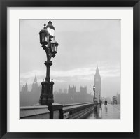 Framed Westminster Bridge and Houses of Parliament, 1962