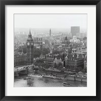 Framed City Of Westminster From The South Bank Of The Thames, 1963