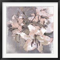 Framed Painted Lilies I