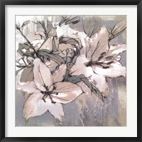Framed Painted Lilies II