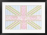 Framed Union Jack, Blue, Green and Pink