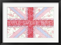 Union Jack, Home Sweet Home Framed Print