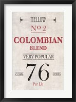 Framed Colombian Coffee