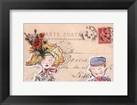 Framed Carte Postal III