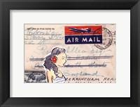 Framed Carte Postal IV