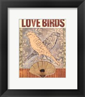Framed Love Birds I