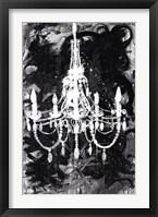 Framed Chandelier Black and White