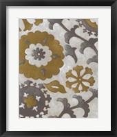 Ochre Suzani I Framed Print