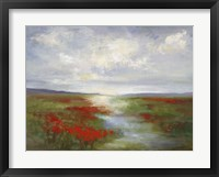 Framed Red Poppy Field