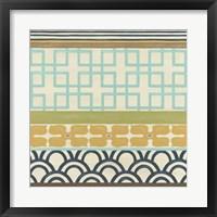 Non-Embellished Geometric Frieze III Framed Print