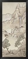 Framed Non-Embellished Chinoiserie Landscape I