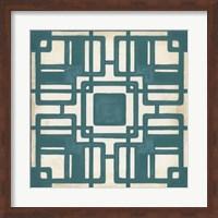 Framed Non-Embellished Deco Tile IV