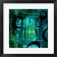 Framed Turquoise Element I