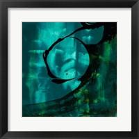 Framed Turquoise Element III