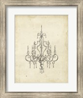 Framed Classical Chandelier III