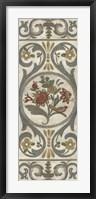 Tudor Rose Panel I Framed Print