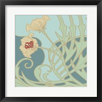 Poppy Flourish I Framed Print