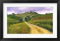 Framed Tuscan Road